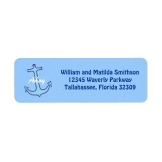 Blue Anchor Custom Return Address Label