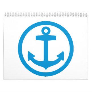 Blue anchor logo calendar