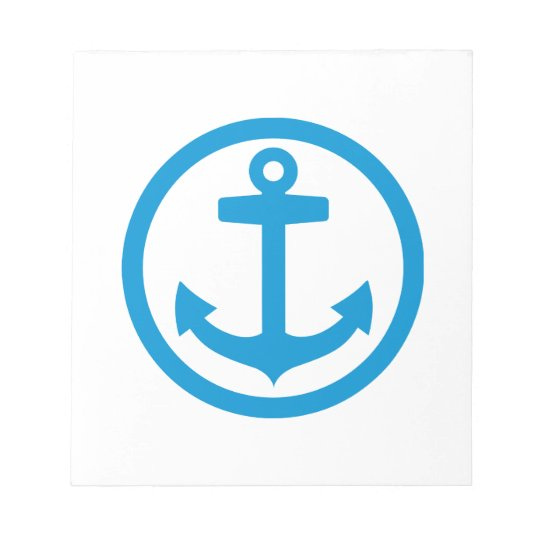 Blue anchor logo notepad zazzle blue anchor logo notepad thecheapjerseys Images