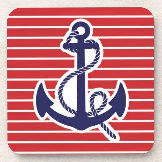 Blue anchor navy coaster