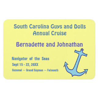 Blue Anchor on Yellow Stateroom Door Marker Magnet