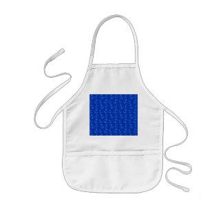 Blue anchor pattern kids' apron