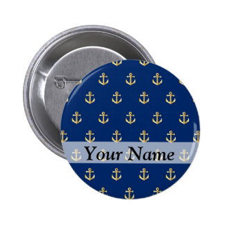Blue anchor pattern button