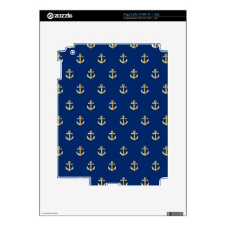 Blue anchor pattern iPad 2 skins