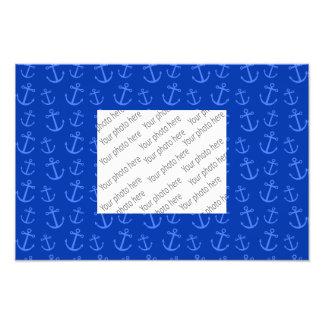Blue anchor pattern photograph