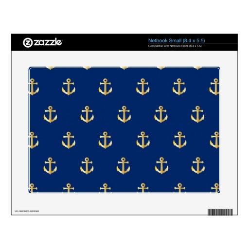 Blue anchor pattern netbook decals