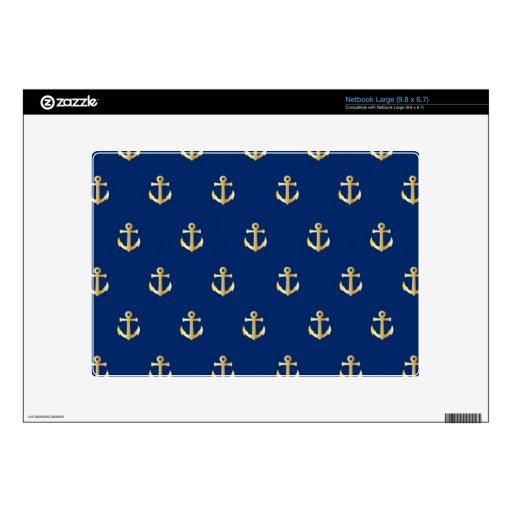 Blue anchor pattern netbook skins