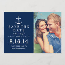 Blue Anchor Photo Wedding Save the Date