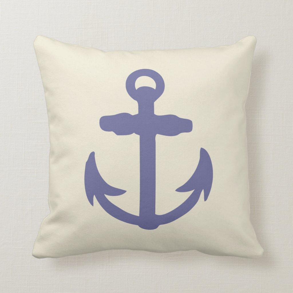 Blue Anchor Pillow
