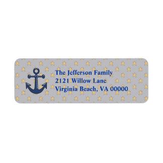 Blue Anchor Return Address Labels