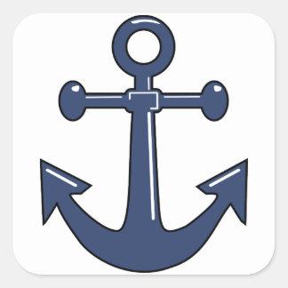 Blue Anchor Square Sticker