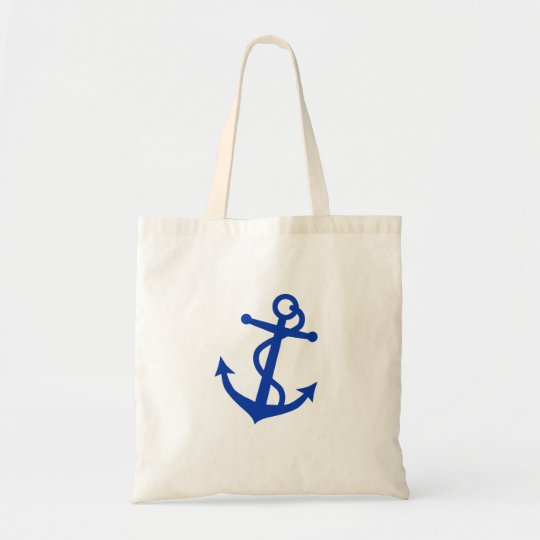 Blue Anchor Tote Bag
