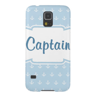 Blue Anchors Blue Captain Cases For Galaxy S5