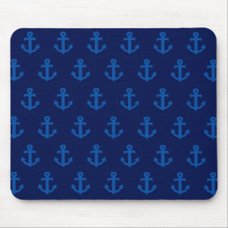 Blue Anchors Mouse Pad