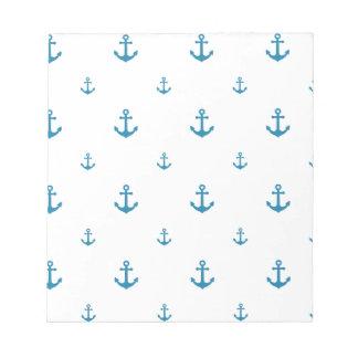 Blue Anchors Notepad