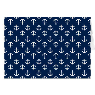 Blue Anchors Pattern Cards