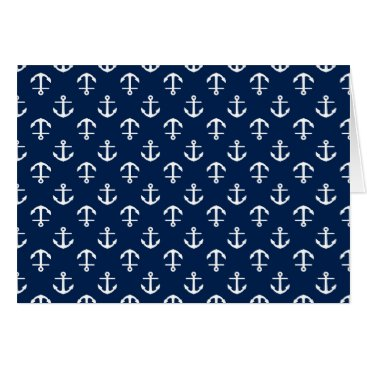 heartlocked Blue Anchors Pattern Card