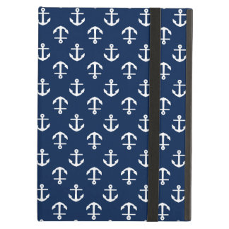 Blue Anchors Pattern Cover For iPad Air