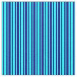 [ Thumbnail: Blue and Aqua Pattern Fabric ]