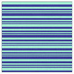 [ Thumbnail: Blue and Aquamarine Colored Pattern Fabric ]