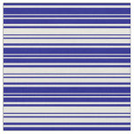 [ Thumbnail: Blue and Beige Colored Pattern Fabric ]