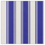 [ Thumbnail: Blue and Beige Colored Striped/Lined Pattern Fabric ]