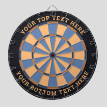 Blue and Beige Dartboard with Custom Text