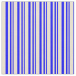 [ Thumbnail: Blue and Beige Lined/Striped Pattern Fabric ]