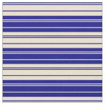 [ Thumbnail: Blue and Beige Lines Fabric ]