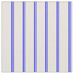 [ Thumbnail: Blue and Beige Pattern of Stripes Fabric ]