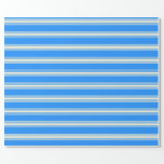 [ Thumbnail: Blue and Beige Pattern Wrapping Paper ]