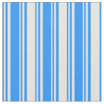 [ Thumbnail: Blue and Beige Striped/Lined Pattern Fabric ]