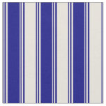 [ Thumbnail: Blue and Beige Stripes/Lines Pattern Fabric ]
