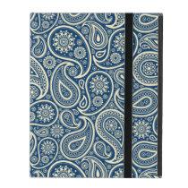 Blue And Beige Vintage Paisley Pattern iPad Folio Case