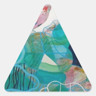 Blue and Bird Triangle Sticker
