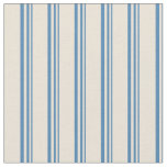 [ Thumbnail: Blue and Bisque Colored Lined/Striped Pattern Fabric ]