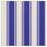 [ Thumbnail: Blue and Bisque Lined/Striped Pattern Fabric ]