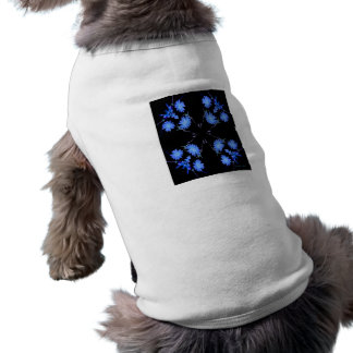 Blue and black 4 up repeat of wildflowers pet clothes