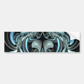 Blue and Black Abstract Design Bumper Sticker