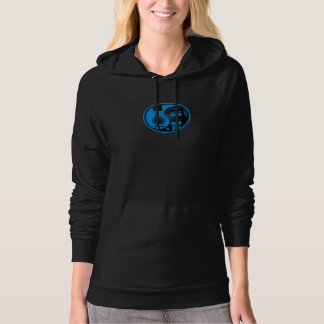 Blue and Black Acoustic Electric Guitars Yin Yang Hoodie