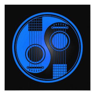 Blue and Black Acoustic Guitars Yin Yang Card