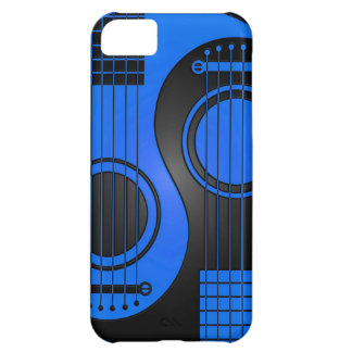 Blue and Black Acoustic Guitars Yin Yang iPhone 5C Cover