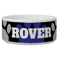 Blue and Black  Animal Paw Print Bowl