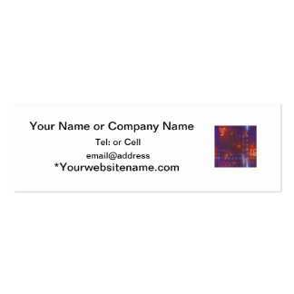 blue and black back with orange digital numbers Double-Sided mini business cards (Pack of 20)