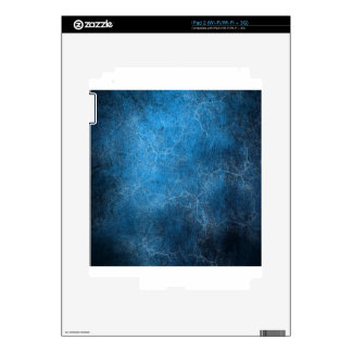 Blue And Black background Decals For The iPad 2