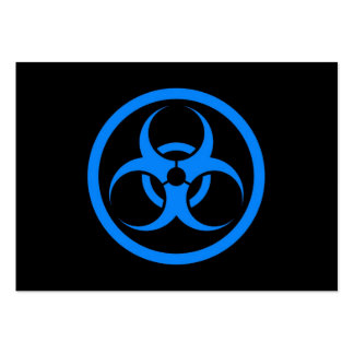 Blue and Black Bio Hazard Circle Business Card Templates