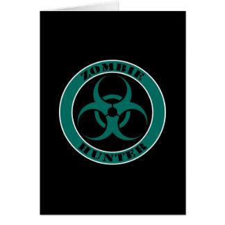 Blue and Black Bio Hazard Zombie Hunter Card