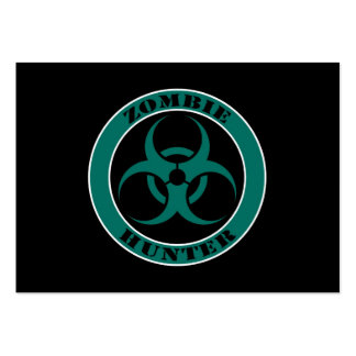 Blue and Black Bio Hazard Zombie Hunter Large Business Cards (Pack Of 100)