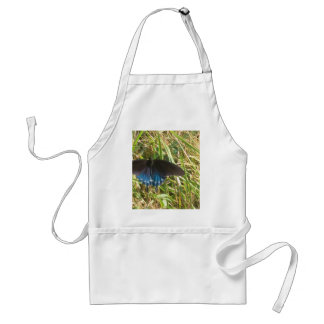 blue and black butterfly adult apron