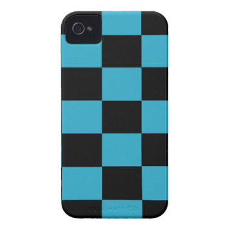 Blue and Black Checkered iPhone 4 Case